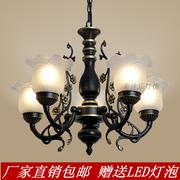 欧式美式吊灯铁艺术复古客厅卧室餐厅地中海现代简约大气吊灯具饰