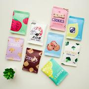 韩国创意趣味零食饼干手拿包可爱零钱包女迷你小包包简约硬币