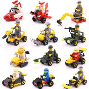 带人偶小积木兼容乐高积木男孩子幼儿园初级入门款式玩具礼物