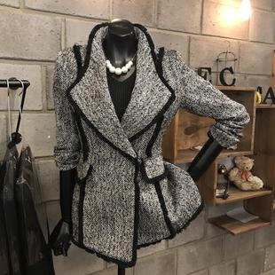 短款外套女2018春秋季女装气质灰女chic西装羊毛呢子大衣
