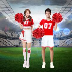 啦啦操服装女团体操拉拉队舞蹈演出服装少女时代韩舞热舞服装