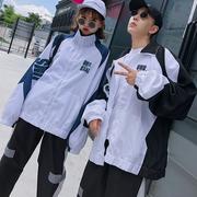 情侣装秋款套装潮校服2018百搭bf外套学生运动会班服一套