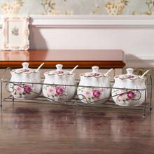 创意调味罐陶瓷家用调味盒套装厨房用品用具佐料盒子三件套欧式