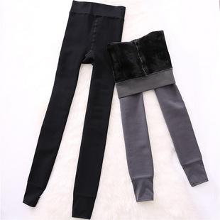 日本女士美体保暖裤高腰收腹加厚加绒秋裤外穿塑身紧身打底连裤袜