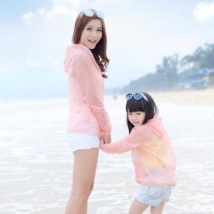 2018夏季超薄大码防晒衣女长袖防紫外线短款防晒服百搭母女短外套