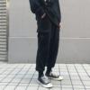 方寸先生秋季裤男工装裤黑色宽松九分束脚裤男装裤子潮流