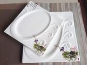 凤盘酒店陶瓷冷菜盘子中式菜西餐厅用浅盘牛排摆盘糕点咖啡具