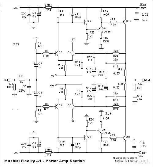 Assembled A1 Class A Power Amplifier Board For Musical
