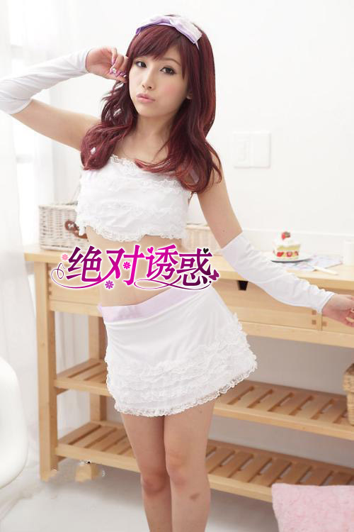 Contains Adult sexy lingerie lace princess dress uniforms maid maid service with more than 6,215 sets of gloves