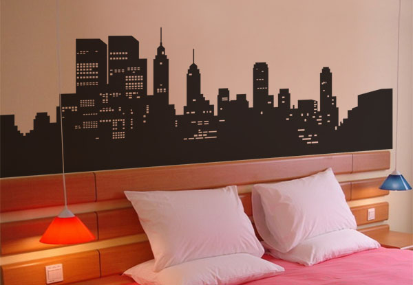 High Quality Vinyl Wall Decals Large Size 2M New York City Skyline Removable Dec
